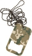 Открывалка для бутылок Dog Tag Bottle Opener w/ Chain - ACU Digital Camo