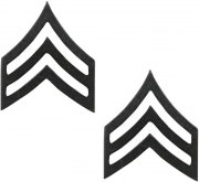 Rothco Sergeant Polished Insignia Subdued (2 шт) 1603