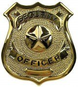 Rothco Security Officer Badge Gold 1905