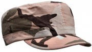 Women's Adjustable Vintage Fatigue Cap Subdued Pink Camo - 1156