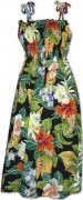 Pacific Legend Hawaiian Tube Dress - 332-3799 Black
