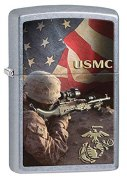 Zippo US Marines Lighters Street Chrome Street Chrome Soldier