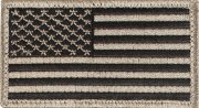 Rothco U.S. Flag Velcro Patch - Khaki / Forward - 17782