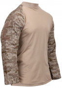 Rothco Tactical Airsoft Combat Shirt Desert Digital Camo 45020