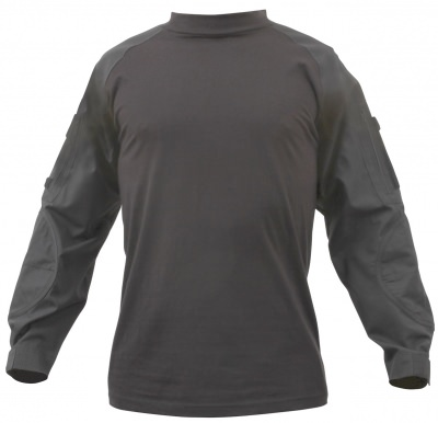 Рубашка под бронежилет Rothco Military FR NYCO Combat Shirt Black 90010, фото