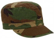 Women's Adjustable Vintage Fatigue Cap Woodland Camo - 1153