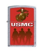 Zippo US Marines Lighters Street Chrome Street Chrome Soldiers