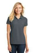 Port Authority Ladies Core Classic Pique Polo Graphite