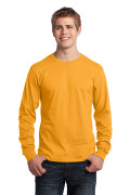 Port & Company Long Sleeve Core Cotton Tee Gold PC54LSG
