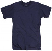 Military Crew Neck T-Shirt Navy Blue - 8575