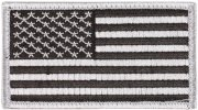 Rothco U.S. Flag Velcro Patch - Silver / Forward - 17781