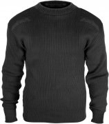 Rothco Government Type Wool Commando Sweater Black 6349