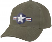 Rothco Vintage Air Corps Logo Low Profile Cap Olive Drab 9714