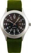 Часы Rothco Trooper™ Military Quartz Watch - Chrome & Olive Drab