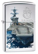 Zippo US Navy Lighter High Polish Chrome Navy Boats