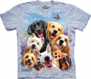The Mountain T-Shirt Dogs Selfie 104984