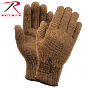 Rothco G.I. Glove Wool Liners Coyote Brown 8458