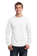 Port & Company Long Sleeve Core Cotton Tee White PC54LSW
