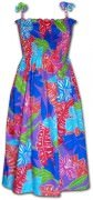 Pacific Legend Hawaiian Tube Dress - 332-3767 Purple