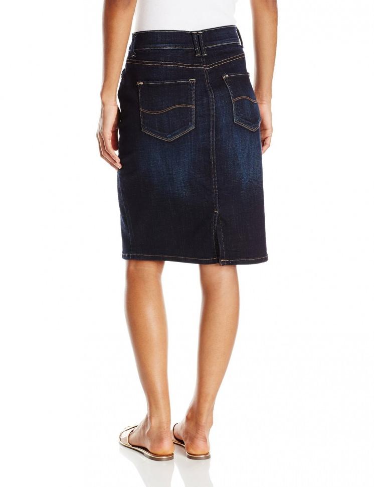 0d095088 Женская джинсовая юбка Lee Womens Modern Series Curvy Fit Stella Skirt  Rinse 3527270 - Женская джинсовая