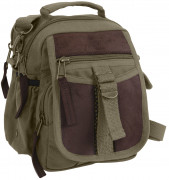 Rothco Canvas & Leather Travel Shoulder Bag Olive Drab 2835