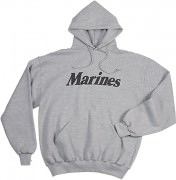 Толстовка Rothco Physical Training Sweatshirt - Grey w/ Marines