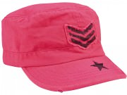 Rothco Women's Adjustable Vintage Fatigue Cap / Stripes & Stars / Pink - 1159