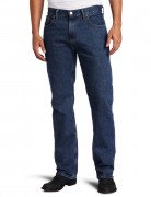 Levi's Men's 505 Regular Fit Jean Dark Stonewash 005054886