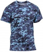 Rothco Polyester Performance T-Shirt Sky Blue Digital Camo 44030