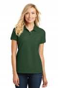 Port Authority Ladies Core Classic Pique Polo Deep Forest Green