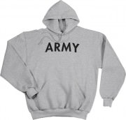 Толстовка Rothco Physical Training Sweatshirt - Grey w/ ARMY