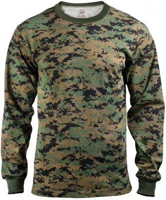 Rothco Long Sleeve T-Shirt Woodland Digital Camouflage - 5494, фото