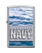 Zippo Navy Lighter Street Chrome Water