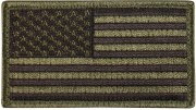 Rothco U.S. Flag Velcro Patch Olive Drab / Forward - 17783