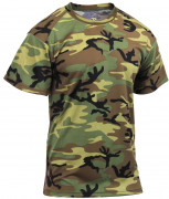 Rothco Polyester Performance T-Shirt Woodland Camo 44010