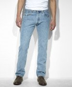 Sale Levi's Men's 501 Original Fit Jean Light Stonewash 005010134