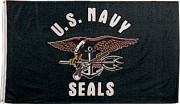 Rothco United States Navy Seals Flag (90 x 150 см) 1478
