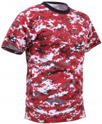 Rothco T-Shirt  Red Digital Camo 5434