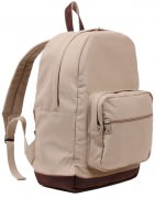 Рюкзак Rothco Vintage Canvas Teardrop Backpack w/ Leather Accents / Khaki # 9616