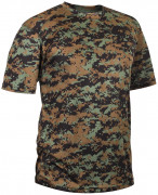 Rothco Polyester Performance T-Shirt Woodland Digital Camo 44020