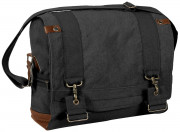 Rothco Vintage Canvas B-15 Pilot Messenger Bag Black 9117