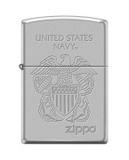 Zippo Navy Lighter Street Chrome Eagle