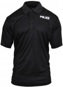 Rothco Moisture Wicking 'Police' Golf Shirt Black 3282