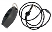 Fox 40 Sharx Safety Whistle w/Lanyard Black