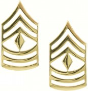 Петлицы Gold Enlisted Rank Insignia - E-8 First Sergeant (1SG)