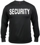 Rothco Long Sleeve T-Shirt Black / SECURITY - 60222