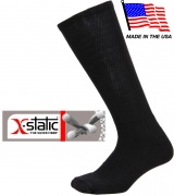 Anti-Microbial Compression Combat Boot Socks Black - 3564