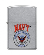 Zippo Navy Lighter Street Chrome Seal