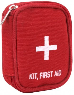 Rothco Military Zipper First Aid Kit Red - 8318, фото