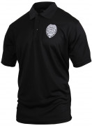 Rothco Moisture Wicking 'Security Badge' Golf Shirt Black 3627